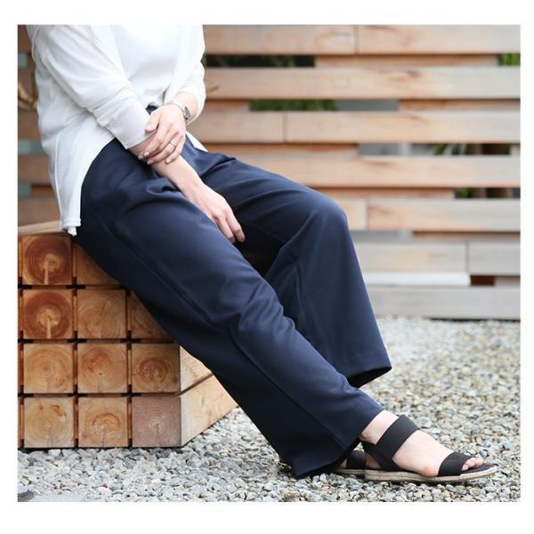 パンツ やわらか美ラインワイドパンツ(N) レディース ファッション 春夏 ワイドパンツ 美脚 XS S M L LL 3L メール便可 2018SS|fitpromotion|13