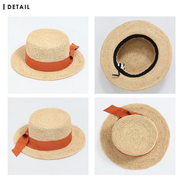 【SALE】 帽子 【メーカー】カンカン帽 レディース ファッション ハット 帽子 リボン 雑貨 小物 ラフィア素材|fitpromotion|11