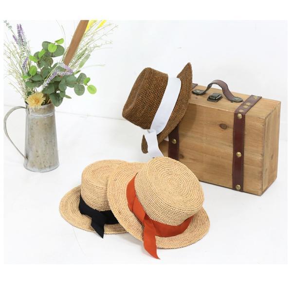 【SALE】 帽子 【メーカー】カンカン帽 レディース ファッション ハット 帽子 リボン 雑貨 小物 ラフィア素材|fitpromotion|12