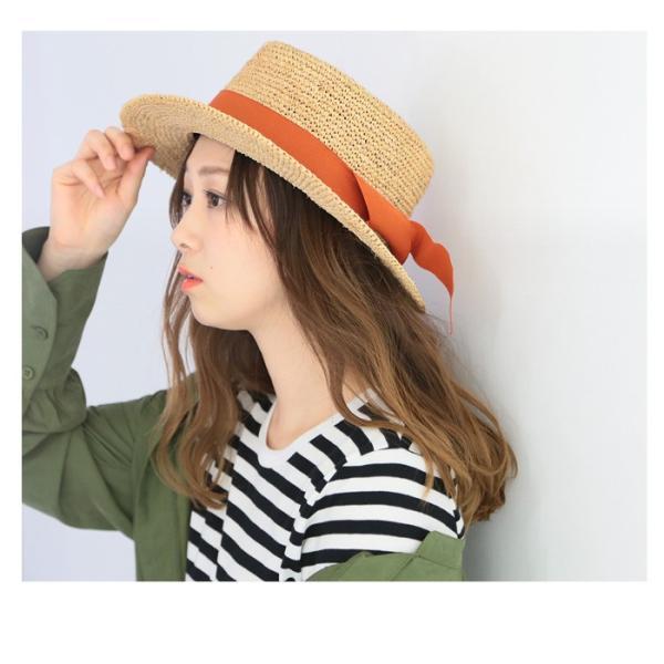 【SALE】 帽子 【メーカー】カンカン帽 レディース ファッション ハット 帽子 リボン 雑貨 小物 ラフィア素材|fitpromotion|09