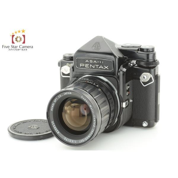 【中古】ASAHI PENTAX アサヒペンタックス 6x7 TTL 中判フィルムカメラ + SMC 6x7 TAKUMAR 75mm f/4.5 レンズ