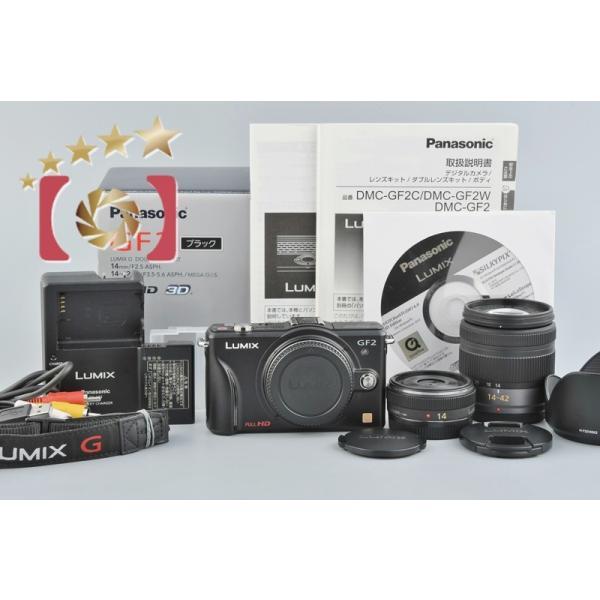 【中古】Panasonic パナソニック LUMIX DMC-GF2W ダブルレンズキット ブラック