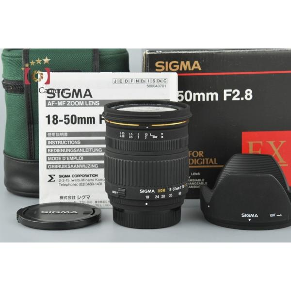 【中古】SIGMA シグマ 18-50mm f/2.8 EX DC D ニコン用