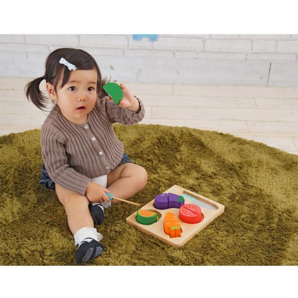 ままごと 知育玩具 木製 木のおもちゃ 1歳 2歳 3歳 ベビー おままごと セット 積み木 やさい ベビー 子供 ベビートイ Edute エデュテ|fiveseason|02