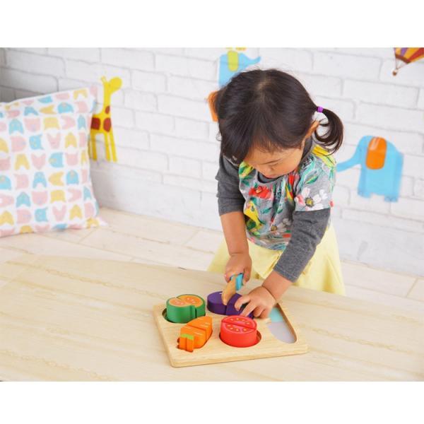 ままごと 知育玩具 木製 木のおもちゃ 1歳 2歳 3歳 ベビー おままごと セット 積み木 やさい ベビー 子供 ベビートイ Edute エデュテ|fiveseason|03