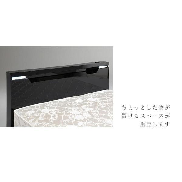 ベッドフレーム ダブル ダブルベッド ベット 安い ベッド ダブルサイズ ダブルベット シンプル 照明 照明付 ブラック ホワイト 白 白家具 北欧|fiveseason|04