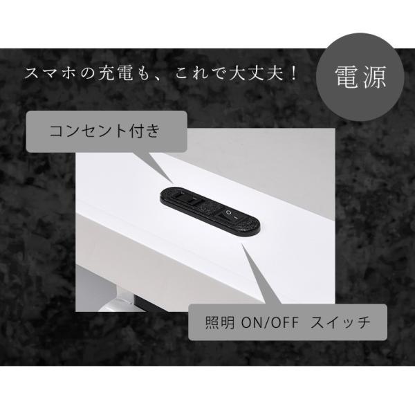 ベッドフレーム ダブル ダブルベッド ベット 安い ベッド ダブルサイズ ダブルベット シンプル 照明 照明付 ブラック ホワイト 白 白家具 北欧|fiveseason|05
