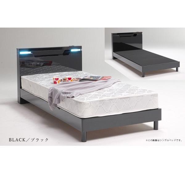 ベッドフレーム ダブル ダブルベッド ベット 安い ベッド ダブルサイズ ダブルベット シンプル 照明 照明付 ブラック ホワイト 白 白家具 北欧|fiveseason|08