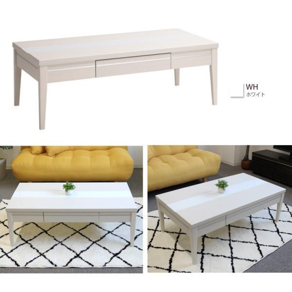 センターテーブル 引出し 北欧 110 110cm幅 リビングテーブル ホワイト 白 ナチュラル ダークブラウン 収納 木製 ガラス おしゃれ|fiveseason|11