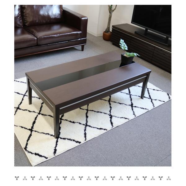 センターテーブル 引出し 北欧 110 110cm幅 リビングテーブル ホワイト 白 ナチュラル ダークブラウン 収納 木製 ガラス おしゃれ|fiveseason|05