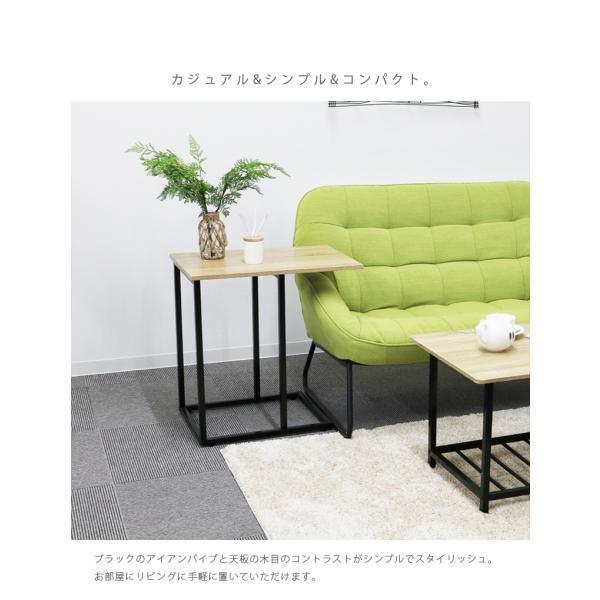 サイドテーブル幅60cm テーブル アイアン スチール スリム おしゃれ 省スペース シンプル 軽量 コンパクト fiveseason 02