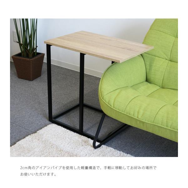 サイドテーブル幅60cm テーブル アイアン スチール スリム おしゃれ 省スペース シンプル 軽量 コンパクト fiveseason 04