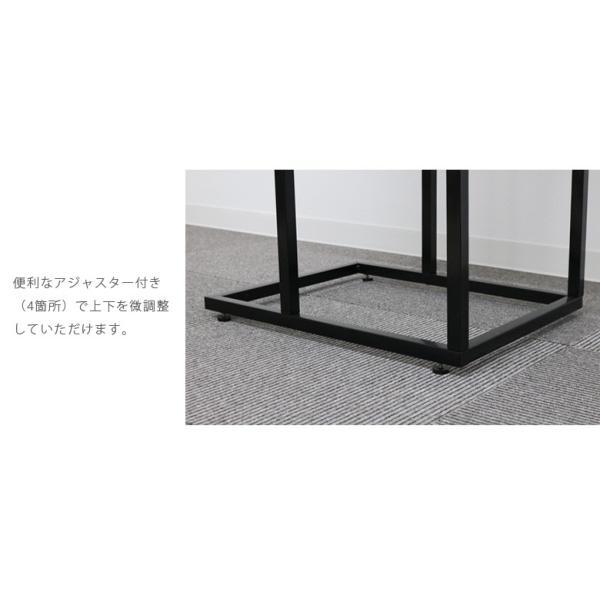 サイドテーブル幅60cm テーブル アイアン スチール スリム おしゃれ 省スペース シンプル 軽量 コンパクト fiveseason 05