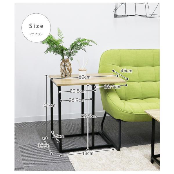 サイドテーブル幅60cm テーブル アイアン スチール スリム おしゃれ 省スペース シンプル 軽量 コンパクト fiveseason 06