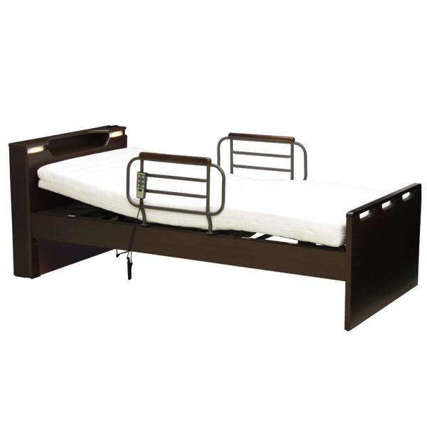 電動リクライニングベッド シングル 電動ベッド リクライニングベッド 介護ベッド シングルベッド 木製ベッド 宮付き|fiveseason
