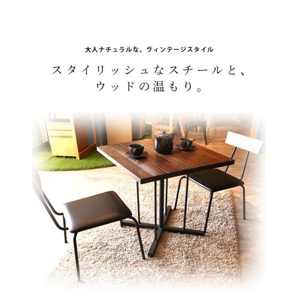 ダイニングテーブル テーブルのみ 幅75cm 木製 アイアン スチール 食卓 食卓テーブル 木製テーブル ダイニング テーブル fiveseason 02