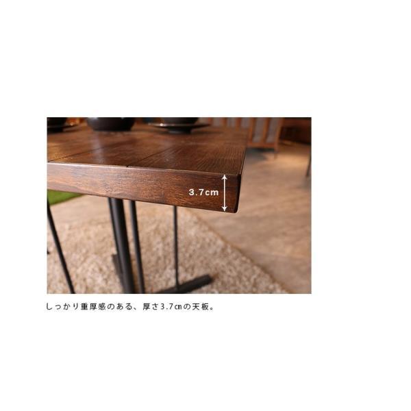 ダイニングテーブル テーブルのみ 幅75cm 木製 アイアン スチール 食卓 食卓テーブル 木製テーブル ダイニング テーブル fiveseason 05