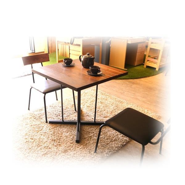 ダイニングテーブル テーブルのみ 幅75cm 木製 アイアン スチール 食卓 食卓テーブル 木製テーブル ダイニング テーブル fiveseason 07