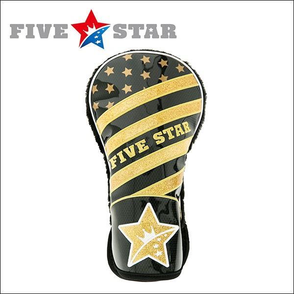 SALE ファイブスター FSHC-001D ドライバー用 ヘッドカバー B2 ブラック/ゴールド 星|fivestar2016