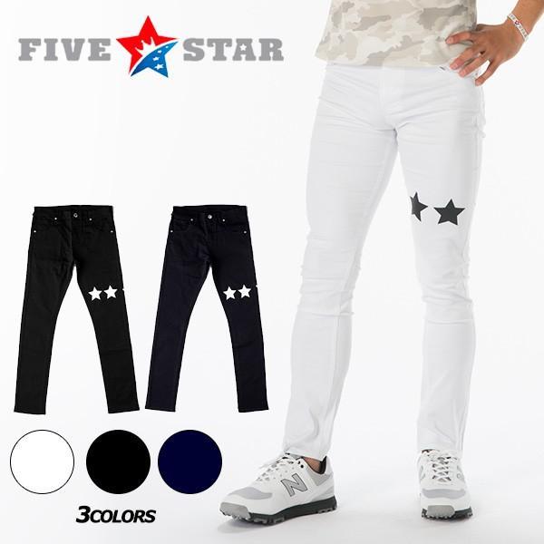 SALE ファイブスター 5スター スーパー スキニー パンツ ゴルフパンツ 星|fivestar2016