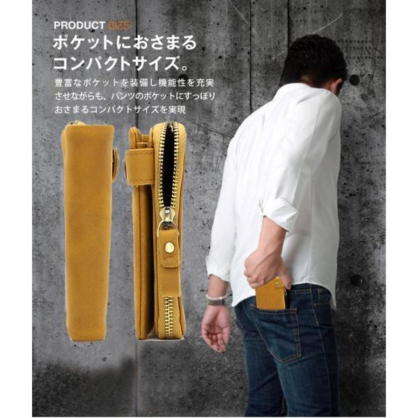 財布 メンズ 二つ折り 日本製 フォリエノ Folieno 本革 U字ファスナー オイルドヌバックレザー 二つ折り財布 tg003 イタリアンカーフレザー fizi 05