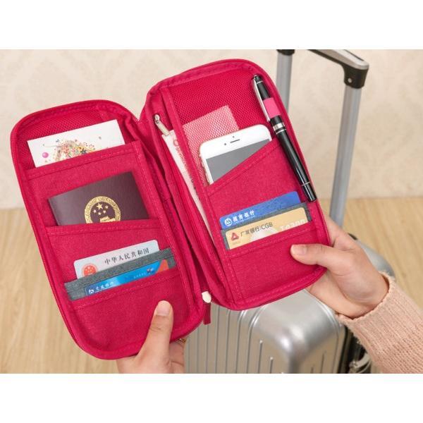 パスポートケース 旅行 マルチケース お薬手帳 診察券 保険証 大容量 トラベルポーチ おしゃれ チケット 貴重品|fk-store|02