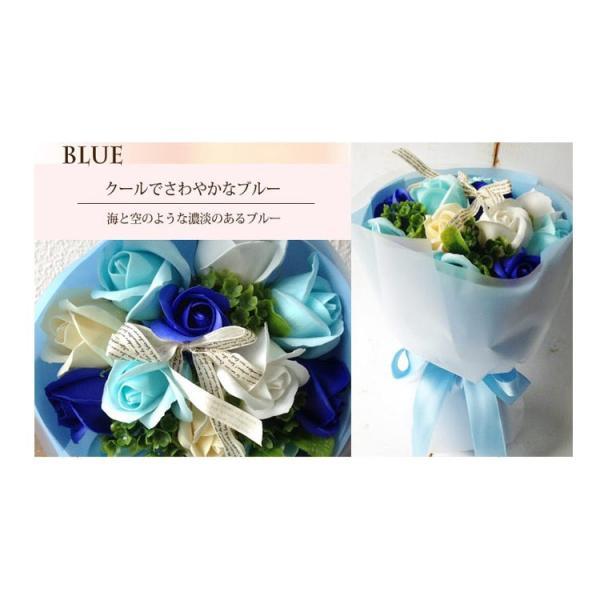 ソープフラワーブーケ お手入れ簡単 石鹸で出来た枯れないお花の花束 フラワーギフト|fkjiyugaoka|05