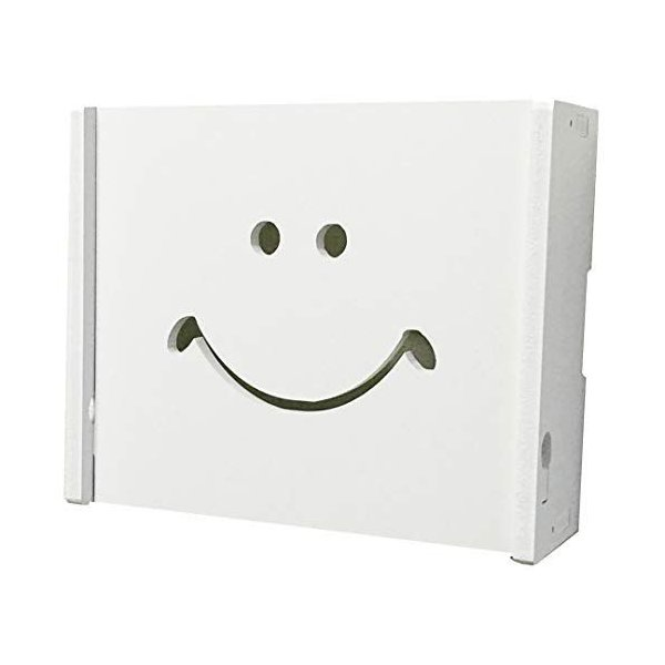 placer1(プラセルワン)ルーターケーブル類収納壁掛けボックスホワイトインテリア(008SサイズAタイプ幅24c