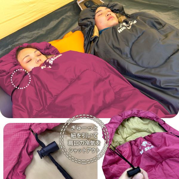 寝袋 シュラフ 車中泊 冬用 防寒 封筒型 コンパクト 収納 安い 暖かい 洗える 掛け布団 連結可能 キャンプ 防災 1.95kg ad010|fkstyle|09