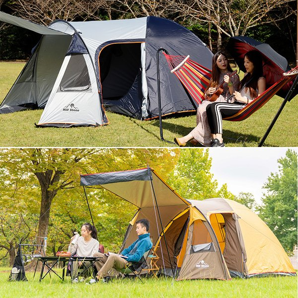 テント 4人用 オールインワン キャンプ 防水 キャンピングテント ファミリー クローズ アウトドア インナーテント 通風口 ad176|fkstyle|11