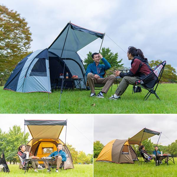 テント 4人用 オールインワン キャンプ 防水 キャンピングテント ファミリー クローズ アウトドア インナーテント 通風口 ad176|fkstyle|12