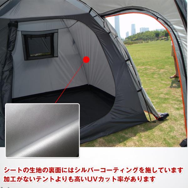 テント 4人用 オールインワン キャンプ 防水 キャンピングテント ファミリー クローズ アウトドア インナーテント 通風口 ad176|fkstyle|10