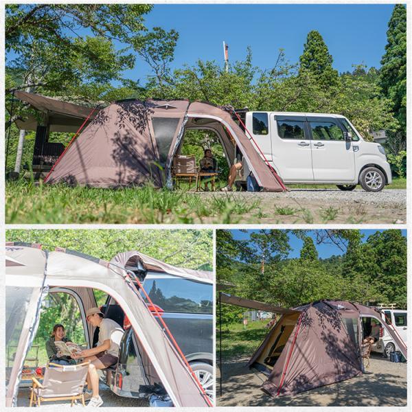 テント オールインワン 4人用 5人用 リビング キャンプ ドーム シェルター 防水 ツールーム ファミリー アウトドア インナーテント ad201|fkstyle|08