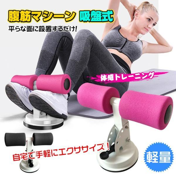 腹筋マシーン 吸盤式 腹筋器具 筋トレ 腕立て 背筋 エクササイズ 簡単取り付け 軽量 コンパクト 自宅 ジム トレーニング ダイエット de100|fkstyle