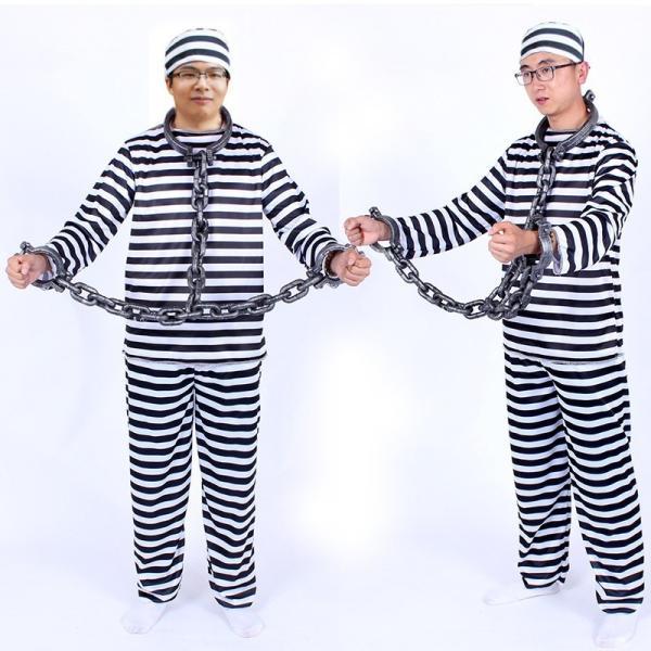 囚人 コスプレ 囚人服 帽子 メンズ レディース 安い ハロウィン 仮装 衣装 コスチューム イベント M677|fkstyle|04