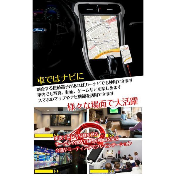 HDMI変換アダプタ Lightning HDMI iPhone iPad 対応 ライトニングケーブル スマホ 高解像度 ゲーム カーナビ  画像 動画 TV mb076|fkstyle|04