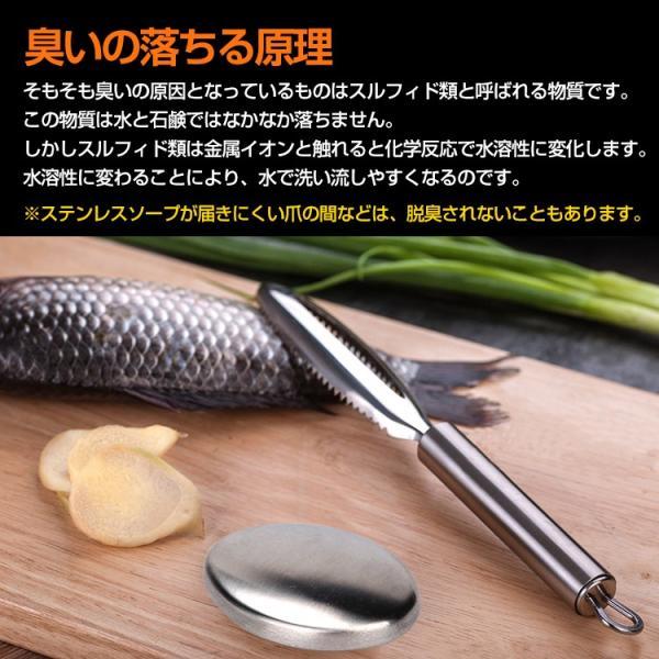 脱臭 石鹸 手洗い ステンレス シルバー ステンレスソープ 魚 にんにく 臭い取り ny149|fkstyle|04