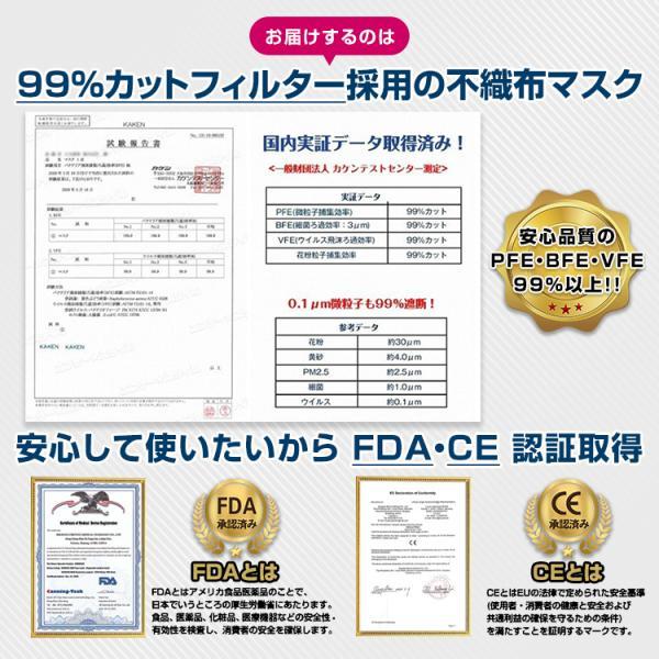 即納 マスク 在庫あり 100枚 箱 使い捨て 不織布 BFE 99%以上 CE FDA 認証済み 男女兼用 ウイルス対策 花粉 飛沫感染対策 日本国内発送 ny264-100 fkstyle 03