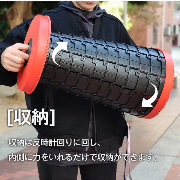 アウトドアチェア 椅子 イス 踏み台 手持ち 伸縮式 コンパクト 折りたたみ 耐荷重 100kg 運動会 od379|fkstyle|09