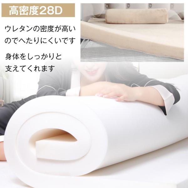 マットレス ダブル サイズ 厚さ10cm 腰痛 ベッド 安い 高反発 高密度28D ウレタン 体圧分散 布団 寝具 安眠 車中泊 アウトドア 新生活 od380|fkstyle|05