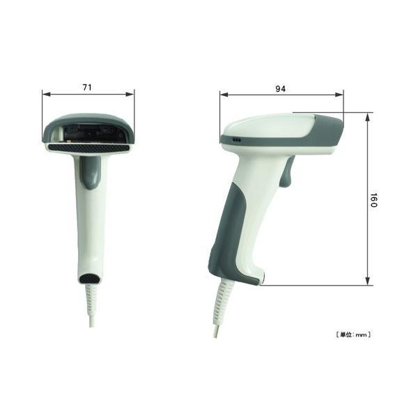 バイカラ―LED+レーザー光源 ロングレンジ バーコードリーダー Bi-2000 USB接続 +スタンドセット fksystem 02