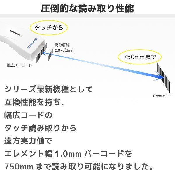 オプトエレクトロニクス OPL-6845S-V-WHT-USB レーザハンディスキャナ 専用置台セット|fksystem|03