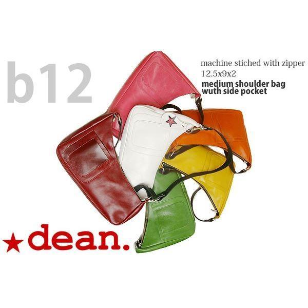 dean(ディーン) medium shoulder ハンドバッグ ピンク ハンドル/ブラック