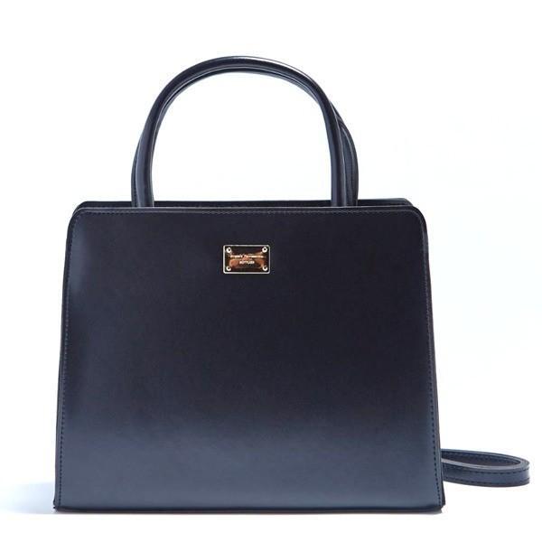 全5色 2Way落ち着いたカラーの上品なミニハンドバッグ/ブラック
