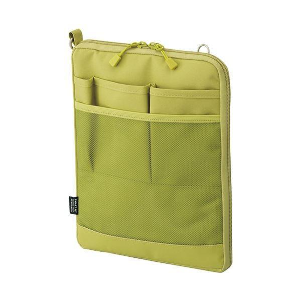 (まとめ)リヒトラブ SMART FITACTACT バッグインバッグ (タテ型) A5 イエローグリーン A-7682-6 1個〔×3セット〕