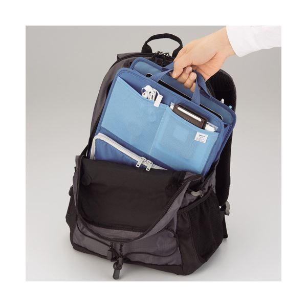 (まとめ)リヒトラブ SMART FITbright label スタンドポケット (タテ型) A6 ブラック A-7666-24 1個〔×3セット〕