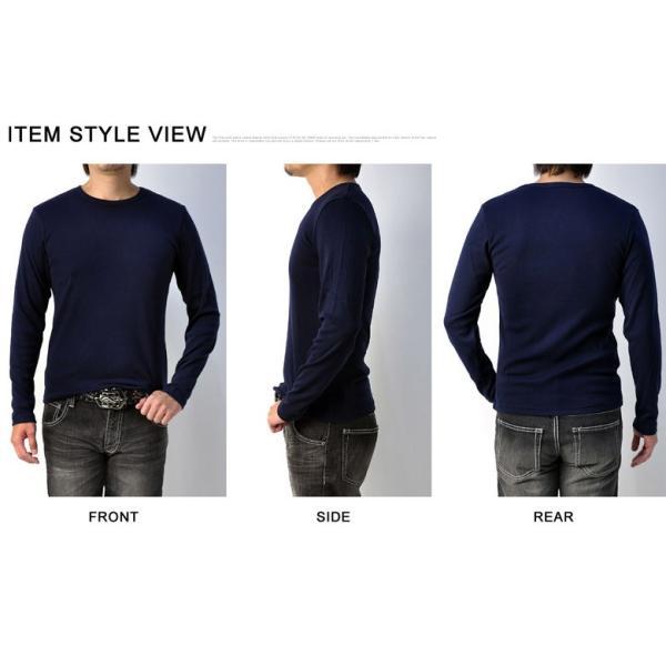 Tシャツ メンズ 長袖 クルーネック T/C フライス 丸首 ロンTee E2A【パケ1】|flagon|03