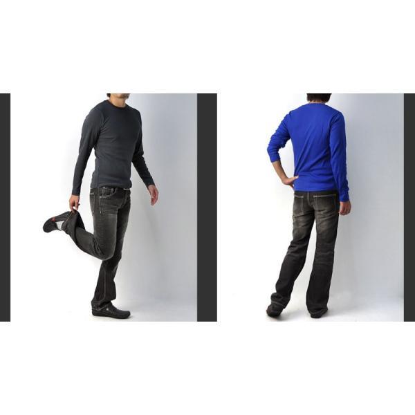 Tシャツ メンズ 長袖 クルーネック T/C フライス 丸首 ロンTee E2A【パケ1】|flagon|04