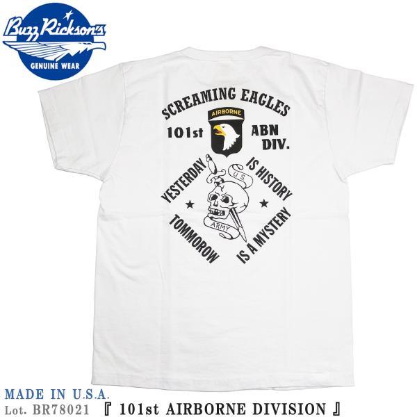 バズリクソンズ BR78021 アメリカ製 半袖 Tシャツ 101st AIRBORNE DIVISION ミリタリープリント BUZZ RICKSON'S Lot. BR78021|flamingosapporo