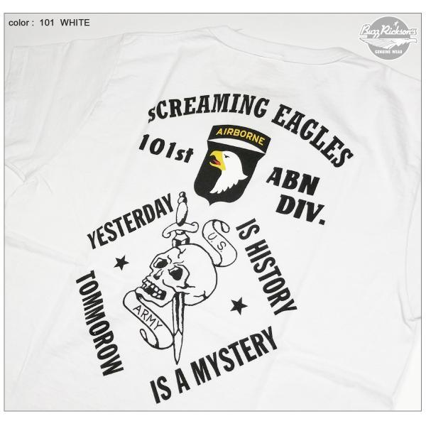 バズリクソンズ BR78021 アメリカ製 半袖 Tシャツ 101st AIRBORNE DIVISION ミリタリープリント BUZZ RICKSON'S Lot. BR78021|flamingosapporo|02